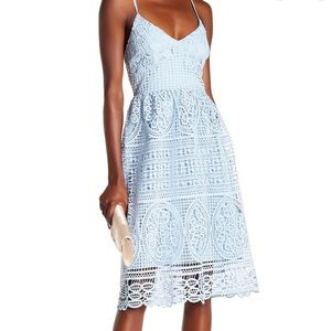 ABS Collection Blue Crochet Lace Dress